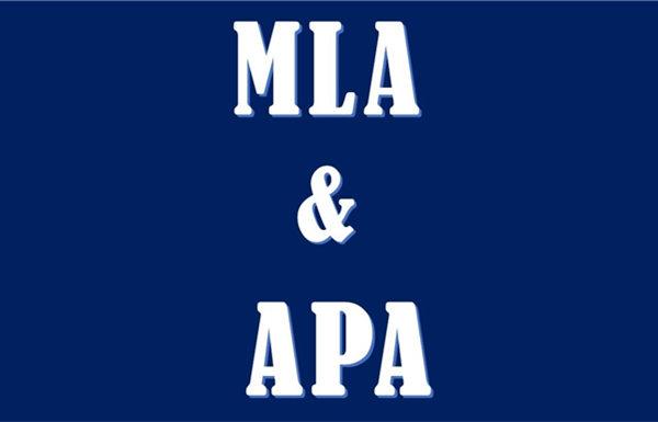 英文APA MLA写作方法