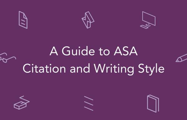 ASA引用和写作风格指南