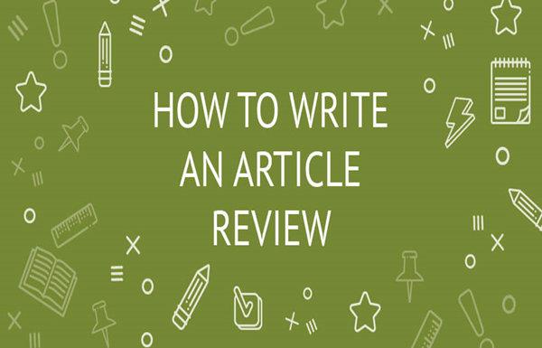 怎么写article review?