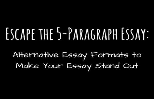 五段式essay的写作小技巧